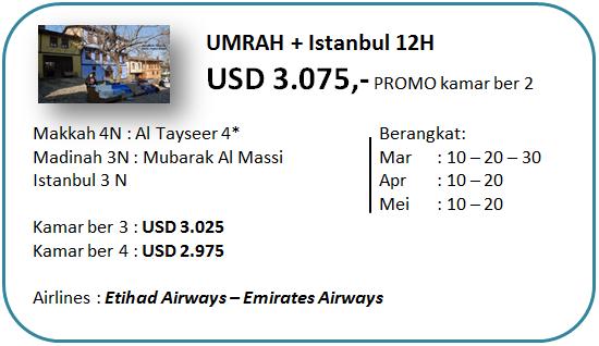 Paket Umroh Plus Promo Turki Bintang 4