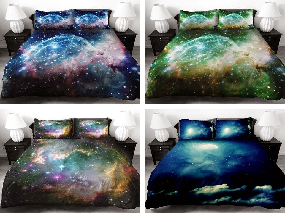 Fantastic 3D Galaxy Bedding Sheets