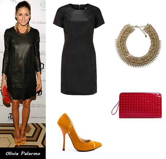 leather dress, Olivia Palermo