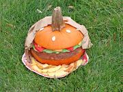 . food, so I couldn't resist this hamburger pumpkin.