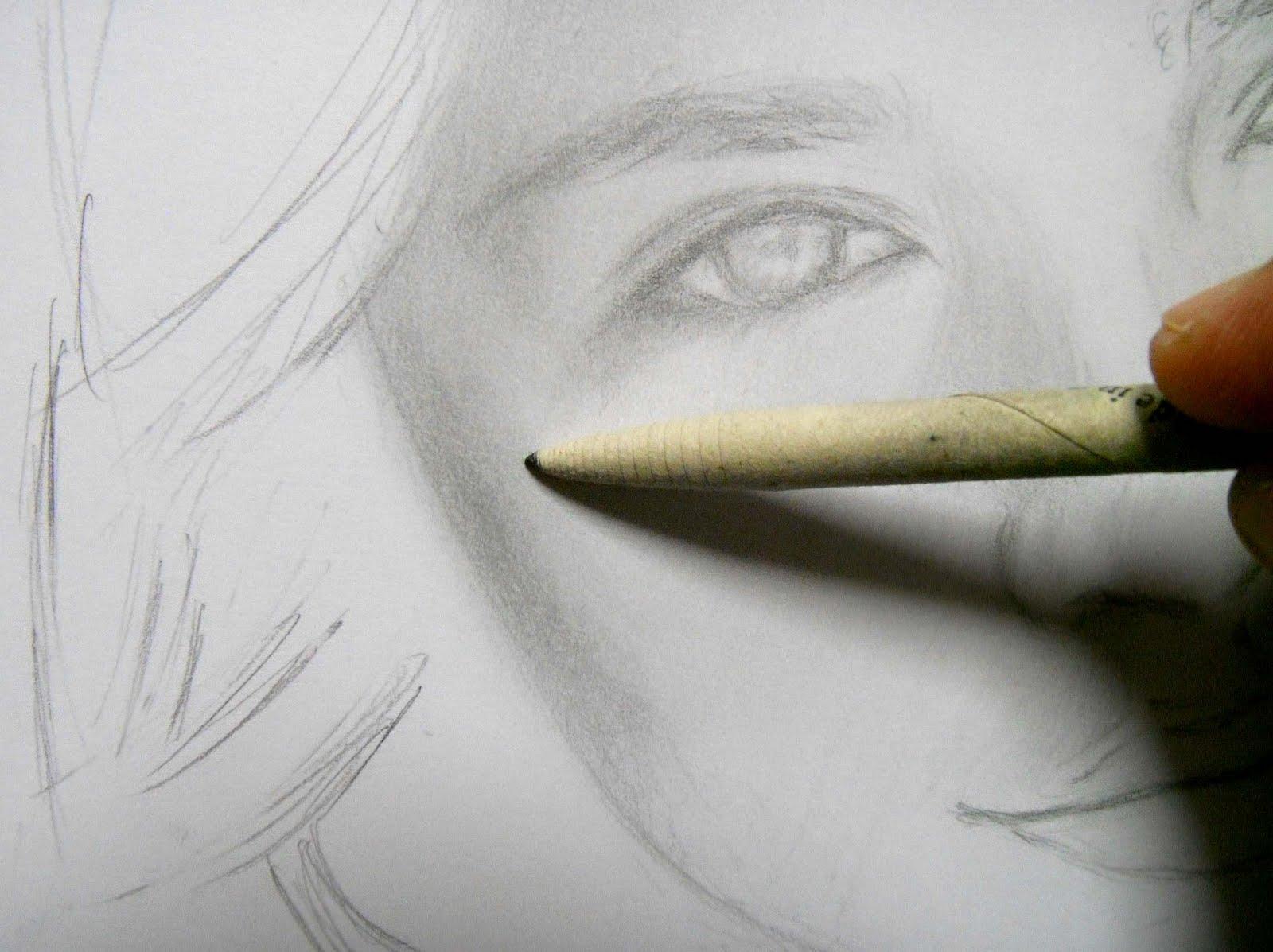grace in progress a pencil portrait of emily evan rae