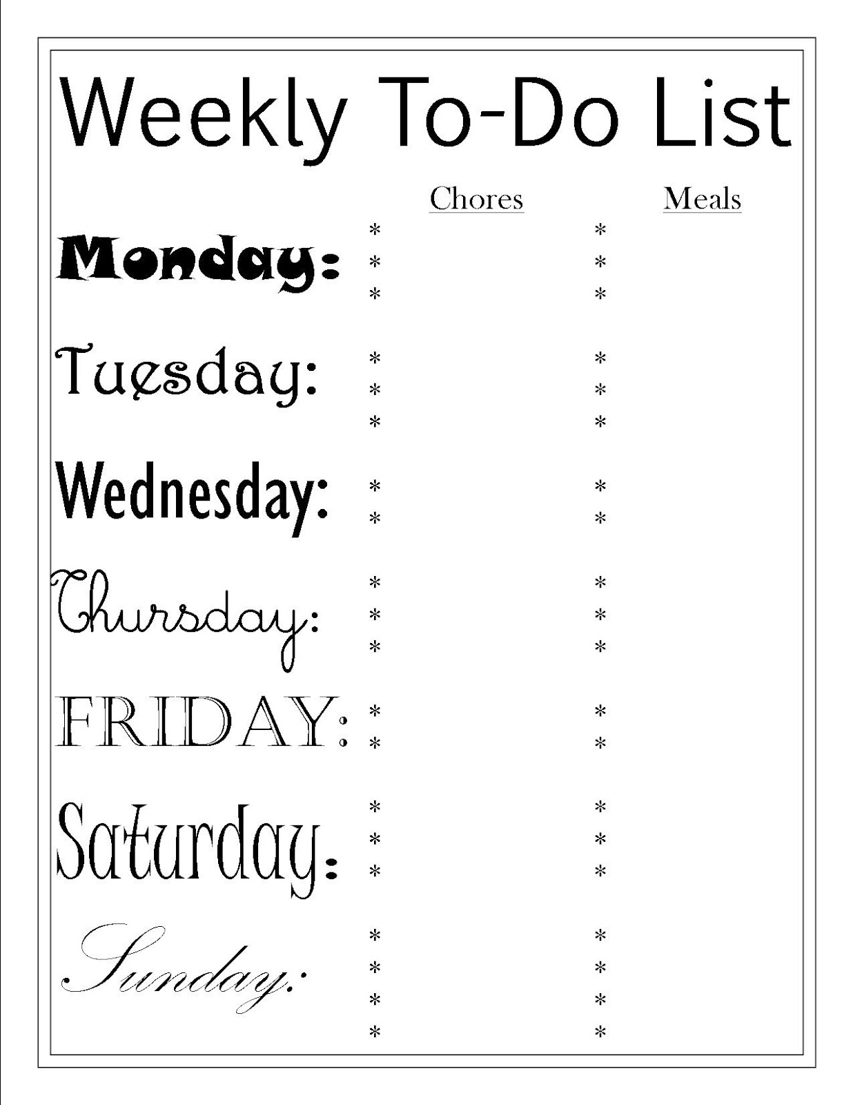 to do list and menu printables pretty providence