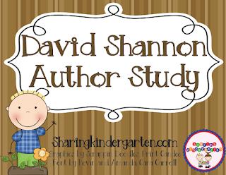 https://www.teacherspayteachers.com/Product/David-Shannon-Author-Study-236440