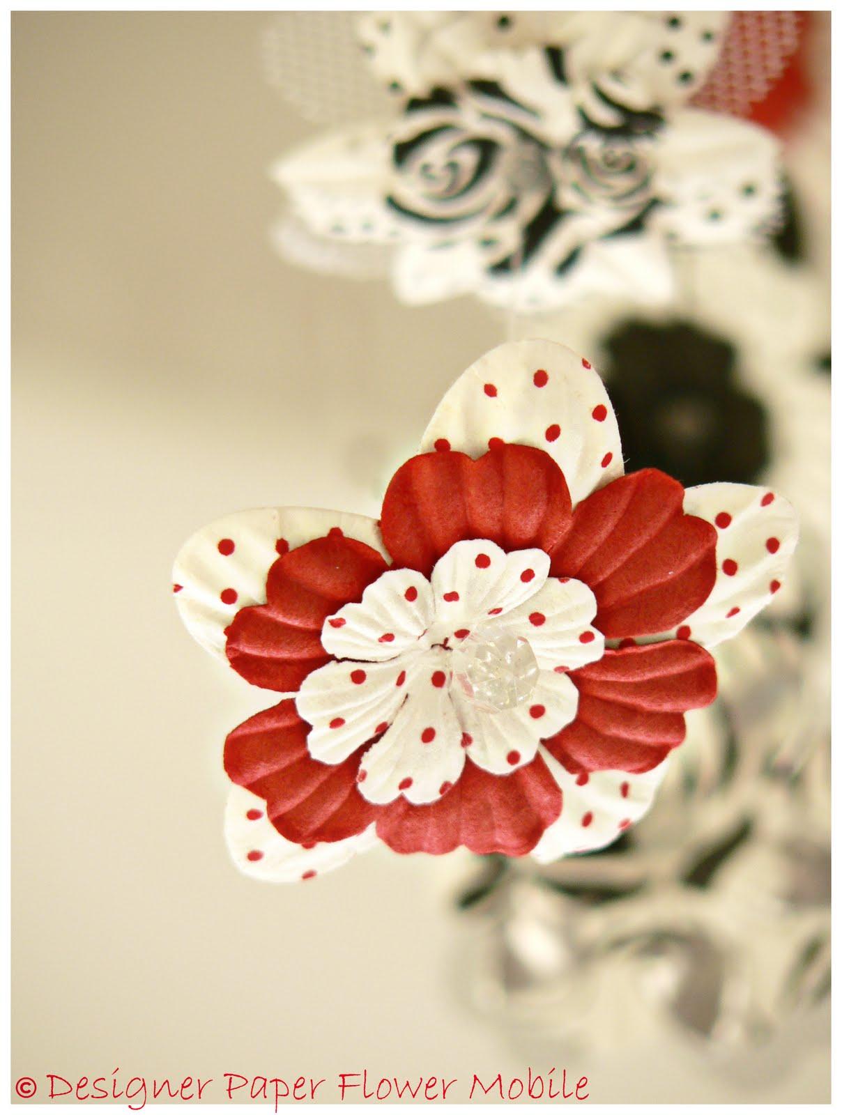 Paper Flower Mobile Akbaeenw