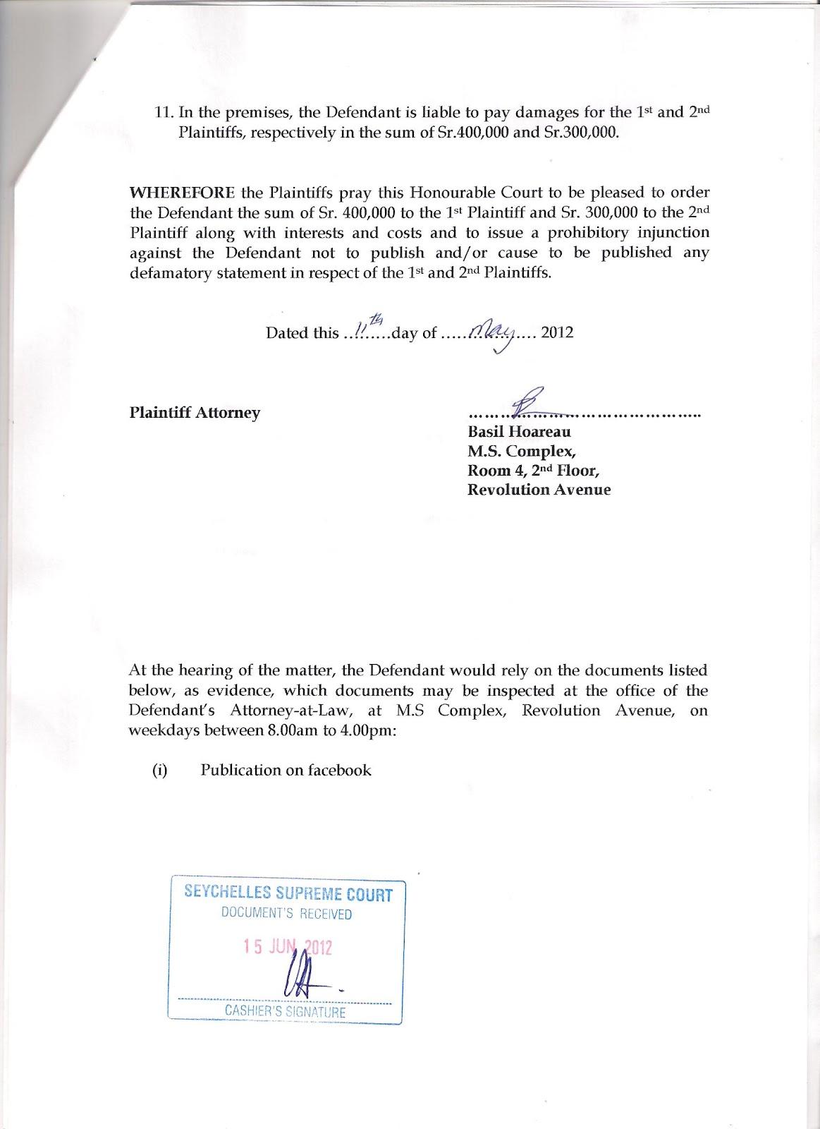 Seychelles reality seselwa unite july 2012 david pierre and veronique hoareau file bogus case against jean paul isaac basil hoareau lawyers up for cartoon network biocorpaavc Choice Image