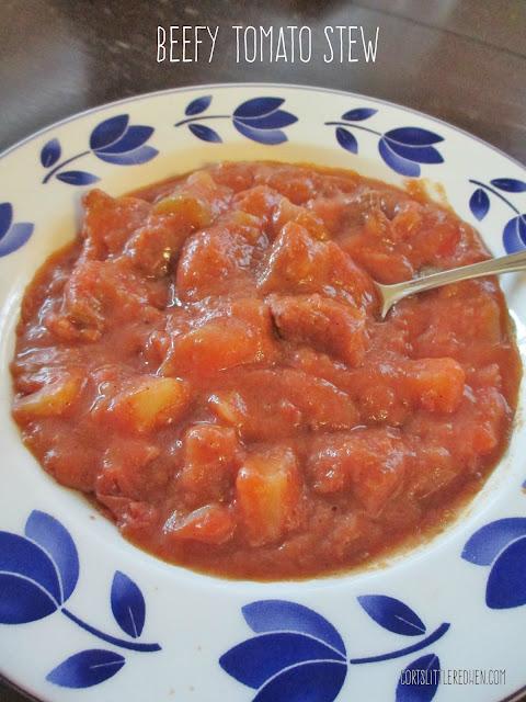 Little Red Hen's Beefy Tomato Stew
