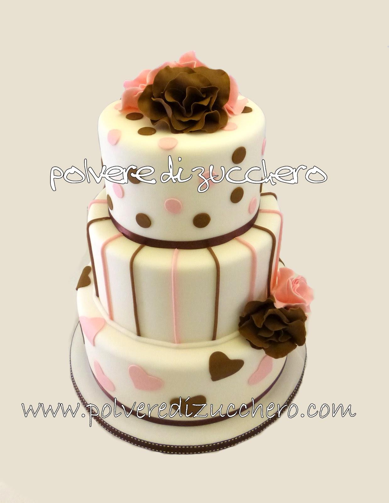 Torta wedding a 3 piani fru fru in stile maisie fantaisie for Design a 3 piani