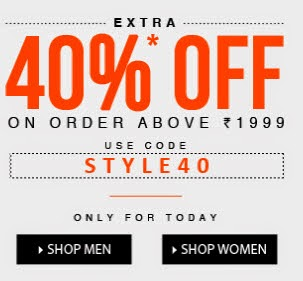 Jabong ; Clothing, Footwears, Beauty, Bags & Accessories up to 81% + upto 40% off