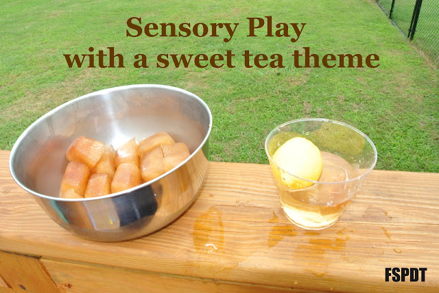 Sweet Tea Sensory Bin- more fun while learning
