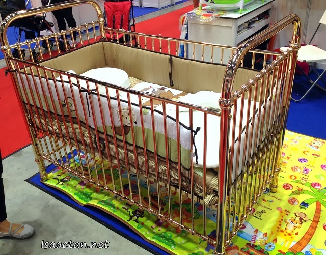 Golden baby cot, now that's not something you see everyday