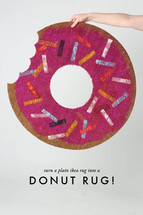 Alfombra con forma de donut