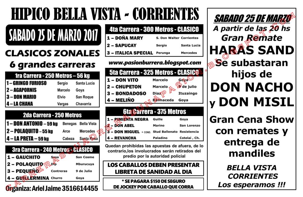 BELLA VISTA - PROGRAMA SABADO