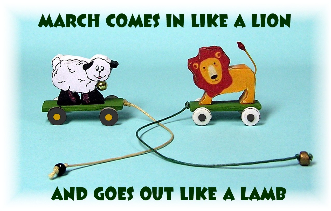 March Comes In Like And Goes Out Like >> Dyi Dollhouse Miniatures In Like A Lion Out Like A Lamb