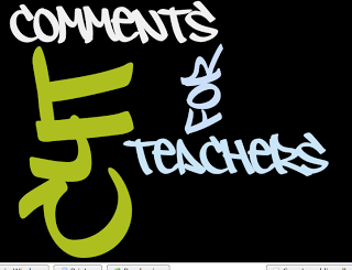 Comments for Teachers
