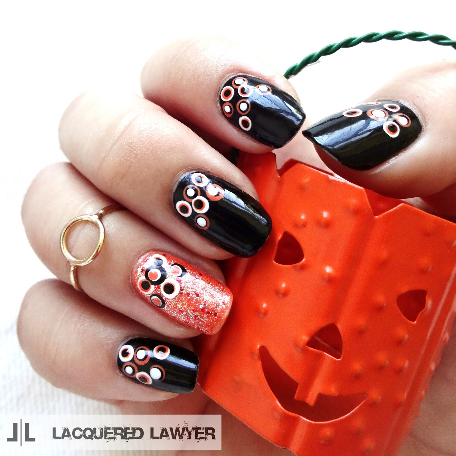 Lacquered Lawyer | Nail Art Blog: Halloween Dotticure