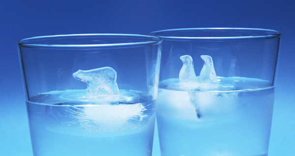 Penguin and Polar Bear Ice Cube Molds