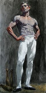 Bruce+Sargeant+Shirtless+Man+in+White+Ti