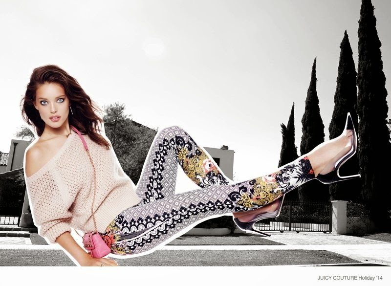 Emily DiDonato stars for the Juicy Couture Holiday 2014 Campaign