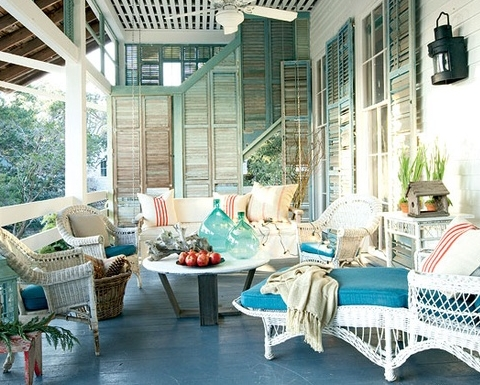 Outside Living Rooms 10 coastal beach theme outdoor living rooms - completely coastal