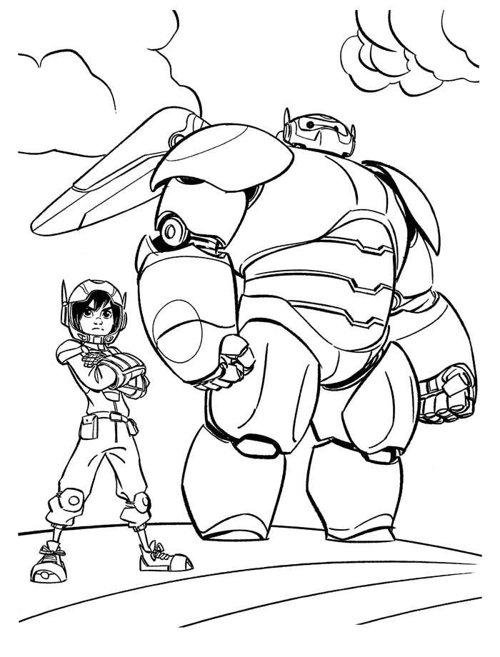 disegni da colorare per bambini big hero
