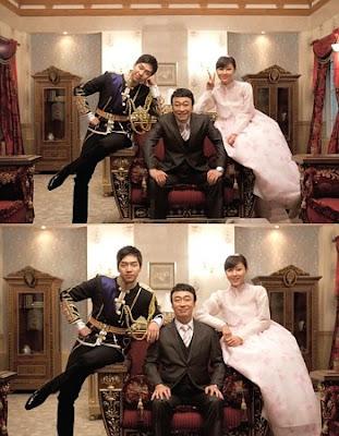 Ji Won dan Lee Seung Gi yang berpose seperti sebuah keluarga kerajaan