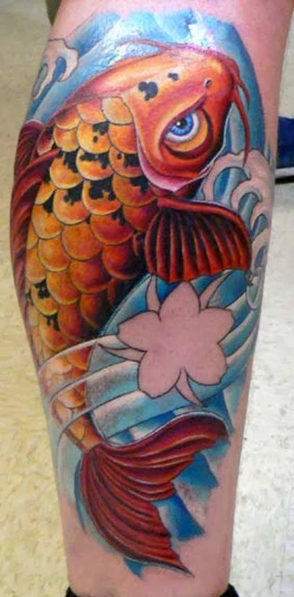 Tatuagens iradas tatuagens de animais for Carpas koi cuidados