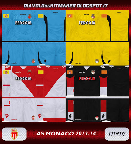 PES 2013 AS Monaco 13 14 Kits by diavolo86