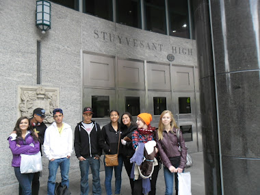 Martha's Vineyard students at Stuyvesant High School