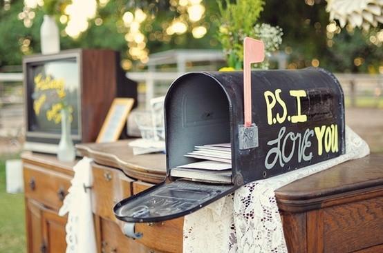 OhmyWedding Buzones Y Postales En Vuestro Libro De Firmas Mailbox Wedding