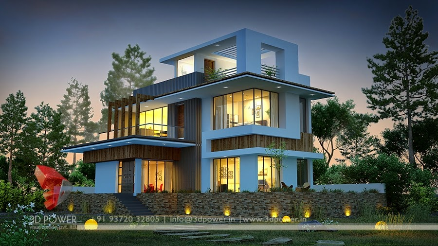 Bungalow front design in indian style