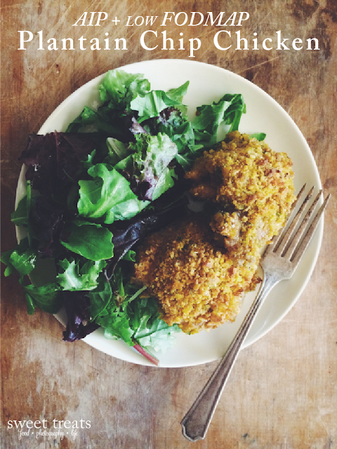 AIP + low FODMAP Plantain Chip Chicken