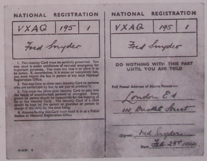 Forged National Registration Identity card of German spy Karel Richter.