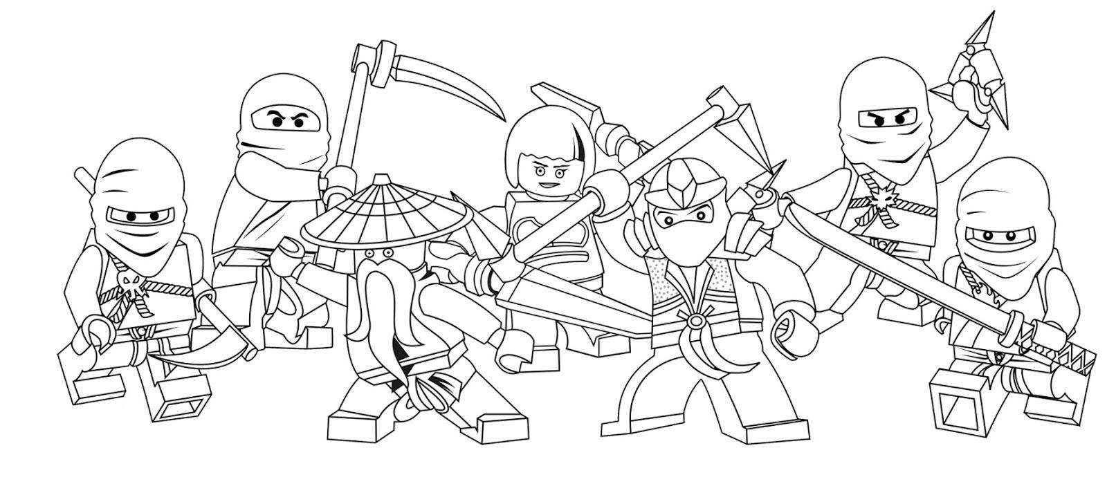Fantástico Ninjas Para Colorear Ilustración - Dibujos de Animales ...