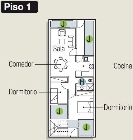 Planos para construir departamentos en 90 m2 planos de for Paginas para hacer planos de casas gratis