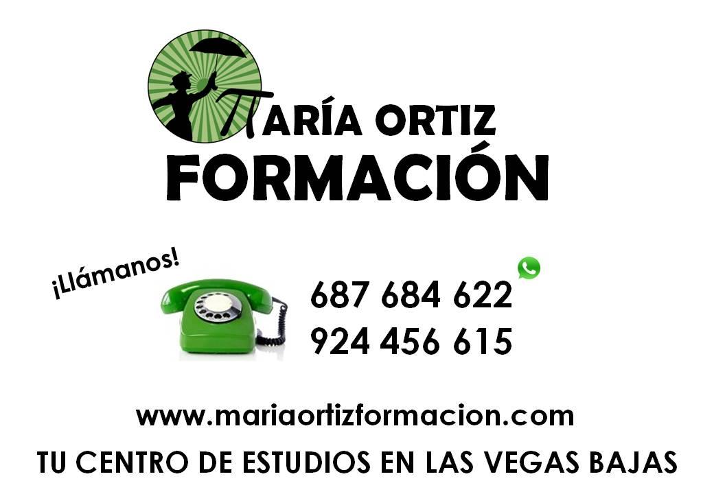 MARÍA ORTIZ FORMACIÓN