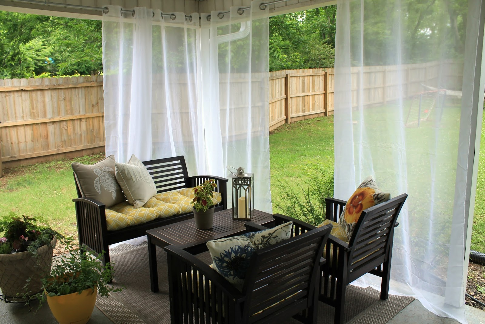 Outdoor curtain rod ideas - Outdoor Curtain Rod Ideas