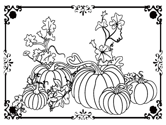 pumpkin coloring pictures to print