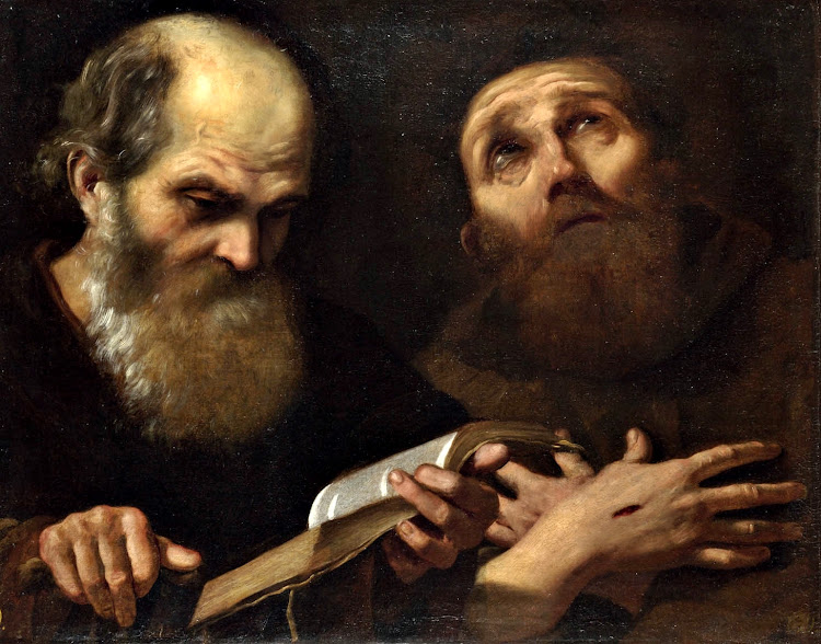 Andrea Sacchi - Saints Anthony Abbot and Francis of Assisi