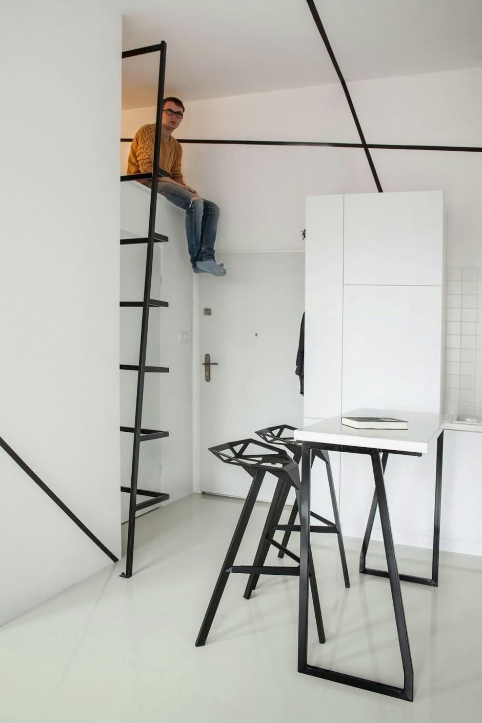Desain Interior Apartemen Kecil Minimalis dengan Ruang Penyimpanan ...