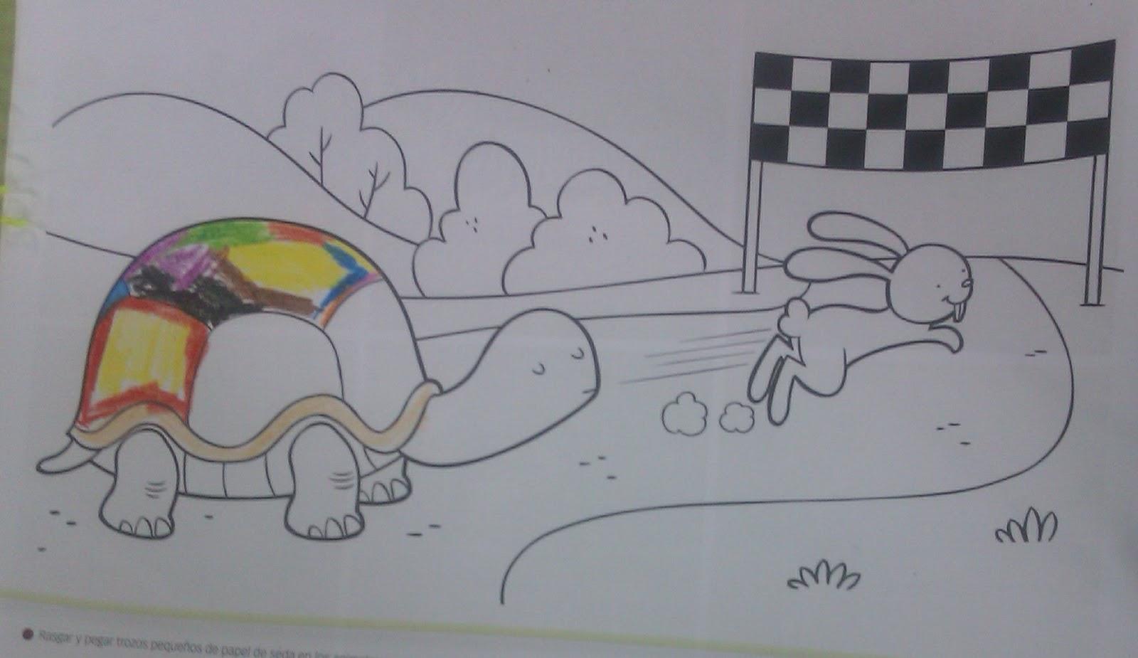 Magnífico Liebre Tortuga Para Colorear Componente - Enmarcado Para ...