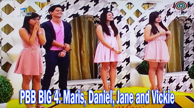 Final PBB BIG 4: Daniel, Vickie, Maris and Jane