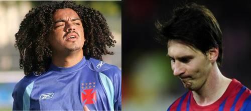 Perdigão x Messi - diferença de cabelos