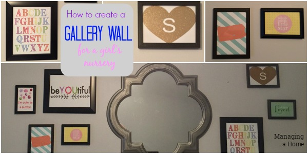 Create a gallery wall for a little girl. This includes links to all of the print outs.