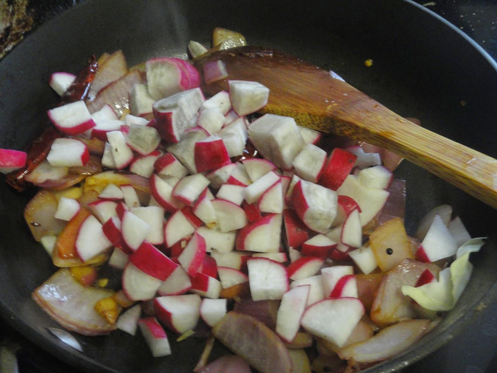 Saute radish