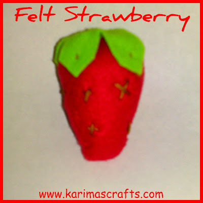 felt strawberry tutorial muslim blog