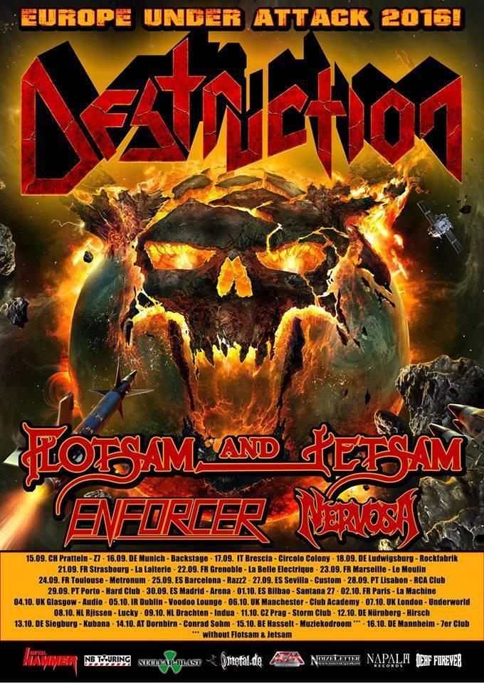 Destruction - Enforcer - Nervosa - Flotsam And Jetsam