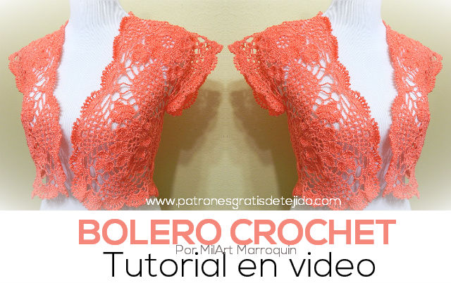 bolero tejido al crochet con tutorial en video