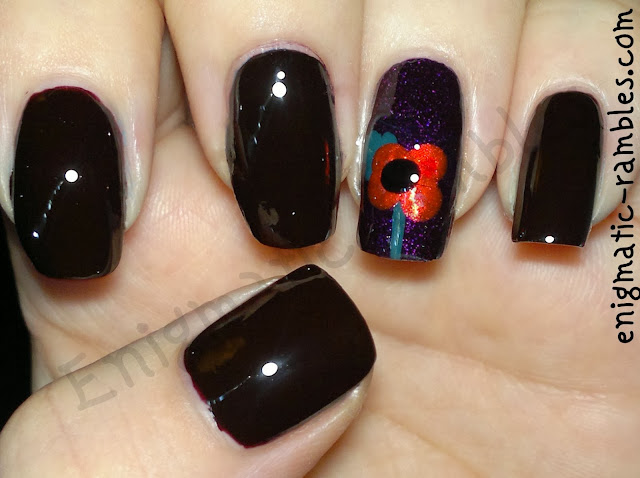 Remembrance-Sunday-poppies-Poppy-Day-Armistice-models-own-black-red-nails-inc-Bow-Street-Luminous-Metallic-333-electric-teal