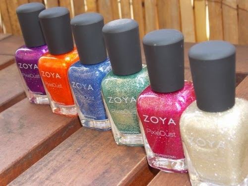 zoya blog, zoya pixie dust swatches, zoya pixie dust review