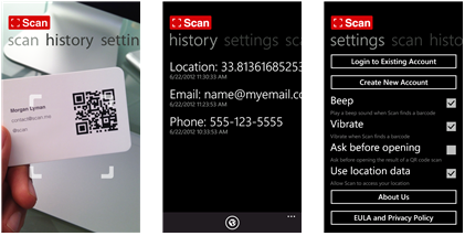 Scan for windows phone 8